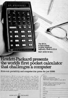 hp 35 handheld calculator